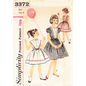 Simplicity 3372 girls dress pattern