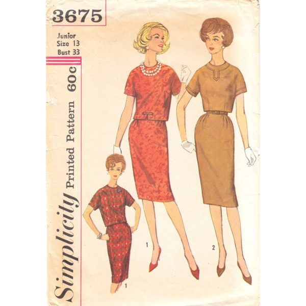 Simplicity 3675 top and skirt pattern