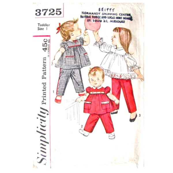 Simplicity 3725 toddler top and pants