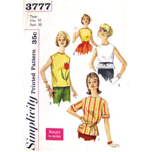 Simplicity 3777 womens blouse pattern