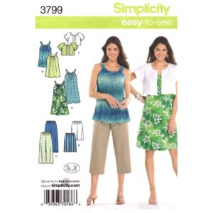 Simplicity 3799 womens sewing pattern