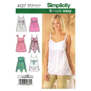Simplicity 4127 top sewing pattern