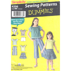 Simplicity 4206 girls pattern