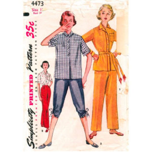 Simplicity 4473 pajama sewing pattern