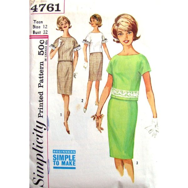 Simplicity 4761 blouse and skirt pattern