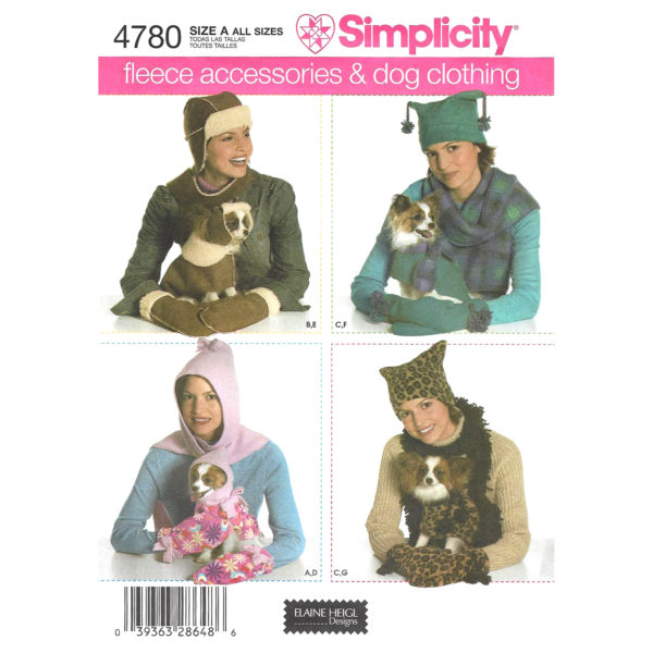 Simplicity 4780 dog sewing pattern