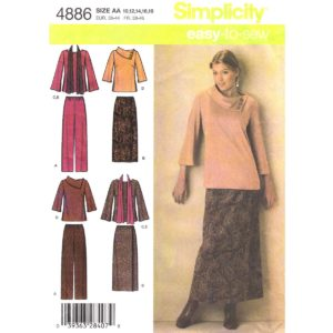 Simplicity 4886 sewing pattern