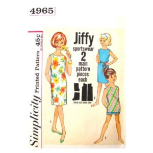 Simplicity 4965 girls sewing pattern