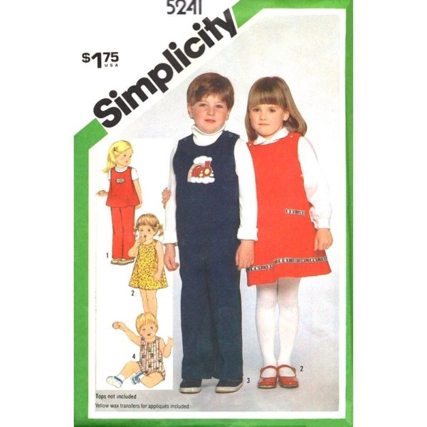 Simplicity 5241 kids sewing pattern