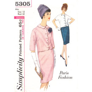 Simplicity 5305 two piece dress pattern
