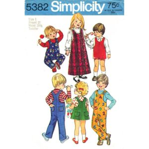 Simplicity 5382 toddler pattern Sz 1