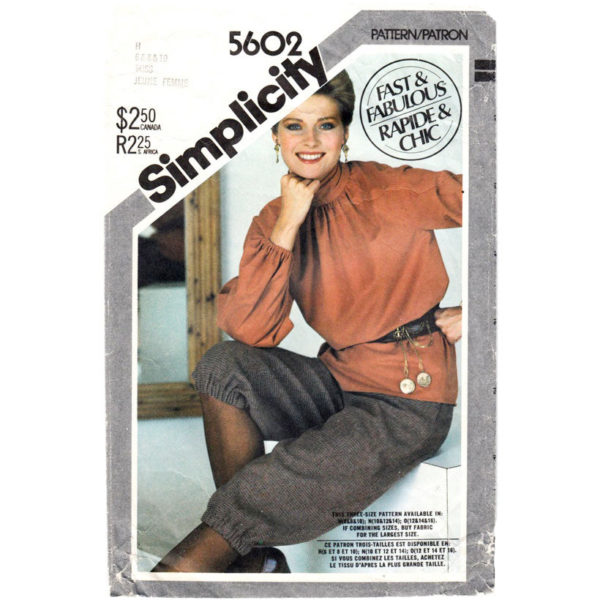 Simplicity 5602 womens sewing pattern