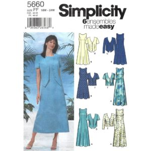 Simplicity 5660 jacket and dress pattern
