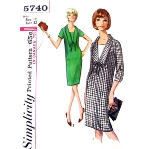 Simplicity 5740 shift dress pattern
