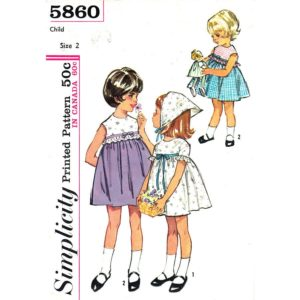 Simplicity 5860 girls sewing pattern