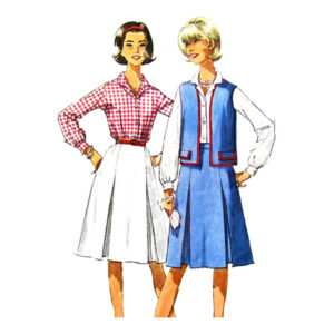 Simplicity 5931 vest shirt skirt pattern