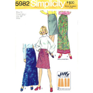 Simplicity 5982 skirt sewing pattern