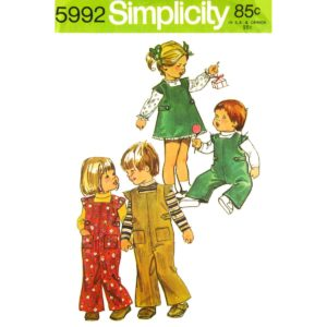 Simplicity 5992 toddler pattern