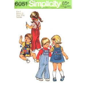 Simplicity 6051 kids overalls pattern