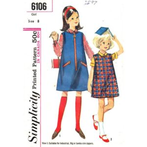 Simplicity 6106 girls sewing pattern