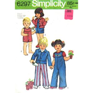 Simplicity 6297 toddler pattern