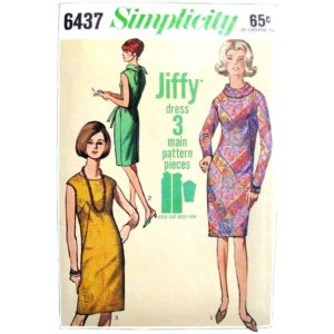 Simplicity 6437 dress sewing pattern