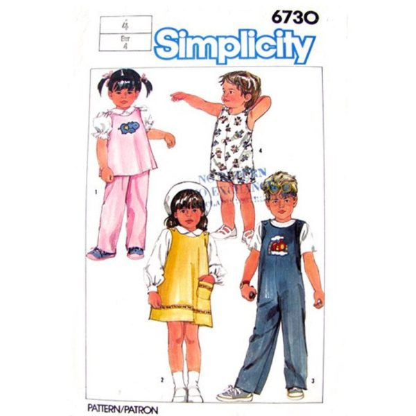 Simplicity 6730 child sewing pattern