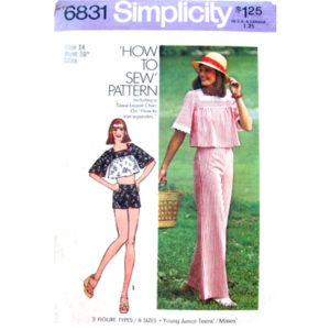 Simplicity 6831 sewing pattern