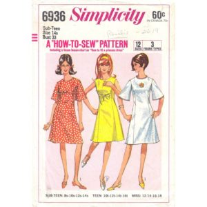 Simplicity 6936 womens dress pattern