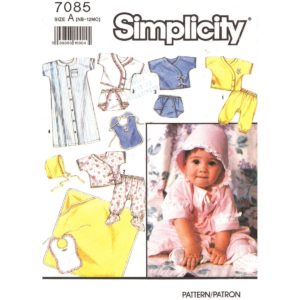 Simplicity 7085 baby sewing pattern