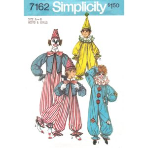 Simplicity 7162 kids clown costume