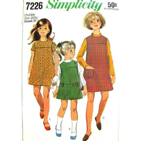 Simplicity 7226 girls sewing pattern