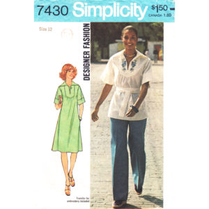 Simplicity 7430 dress or top pattern