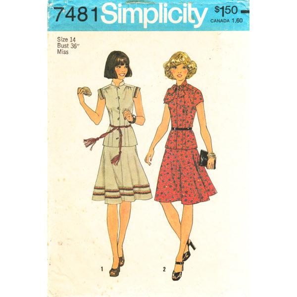 Simplicity 7481 top and skirt pattern