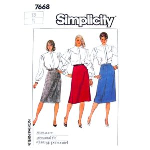Simplicity 7668 skirt sewing pattern