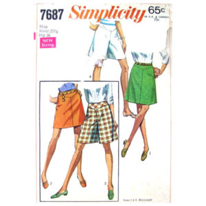 Simplicity 7687 skirt and pantskirt pattern