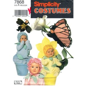 Simplicity 7868 toddler costume pattern