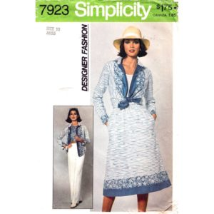 Simplicity 7923 vintage sewing pattern