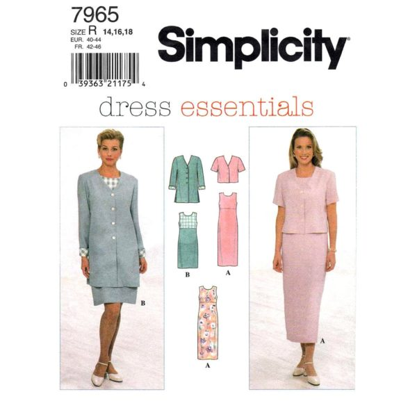 Simplicity 7965 jacket and dress pattern