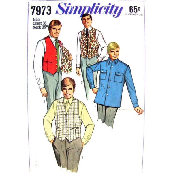 Simplicity 7973 mens sewing pattern