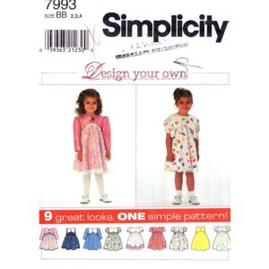 Simplicity 7993 girls dress pattern