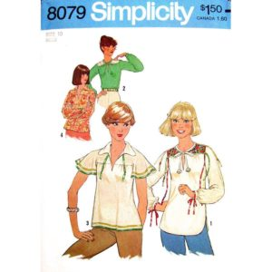 Simplicity 8079 pullover top pattern