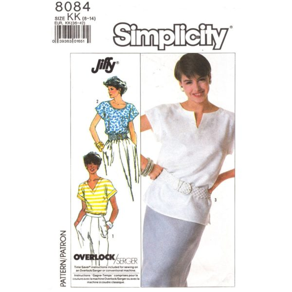 Simplicity 8084 womens top pattern