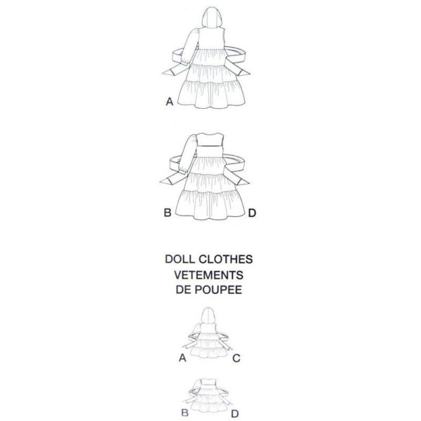 Simplicity 8260 girl and doll dress pattern