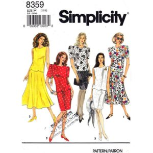 Simplicity 8359 top and skirt pattern