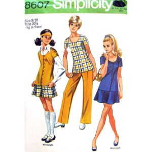 Simplicity 8607 tunic skirt pants pattern