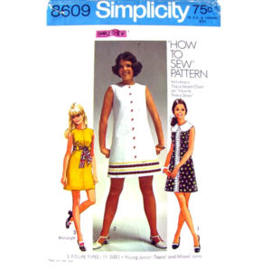 Simplicity 8609 mini dress pattern
