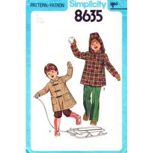 Simplicity 8635 kids coat pattern