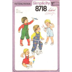 Simplicity 8718 overalls pattern