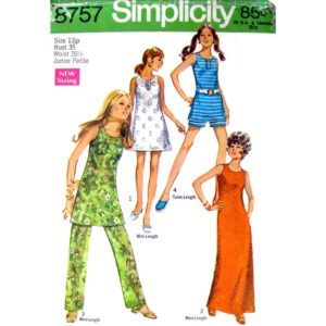 Simplicity 8757 vintage sewing pattern